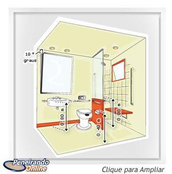 Planta Perspectiva - Banheiro modelo 1