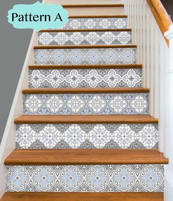 les 25 meilleures id es de la cat gorie stickers escalier. Black Bedroom Furniture Sets. Home Design Ideas