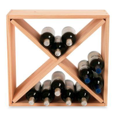 Wine Enthusiast 24-Bottle Wooden Wine Rack Cube - BedBathandBeyond.com
