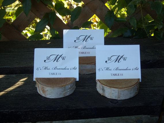 20 birch bark place card holders for weddings by