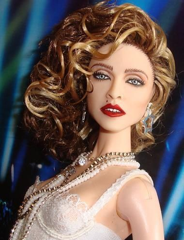 celebrity barbie dolls | DOLLS - CELEBRITY / OOAK Madonna Like A Virgin Barbie Doll Repaint ...