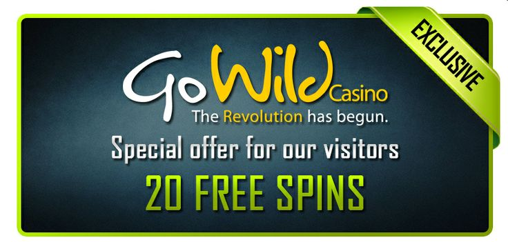 20 Free Spins at GoWild Casino!