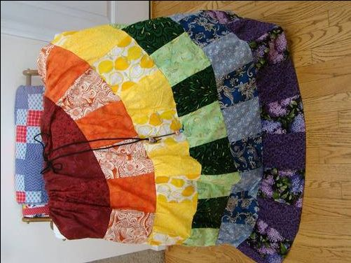 Make Your Own Patchwork Skirt - Tutorial - This could be pretty hippie dippie awesome!