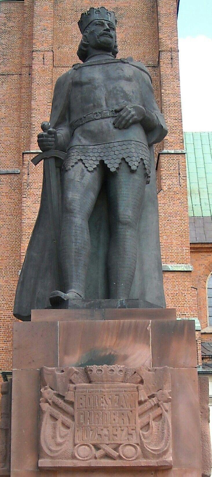 Statue of King Bolesław Chrobry in Gniezno, Poland