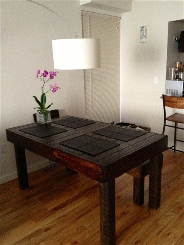 Reclaimed Pallet Wood Dining Table Upcycled LouisianaSmall
