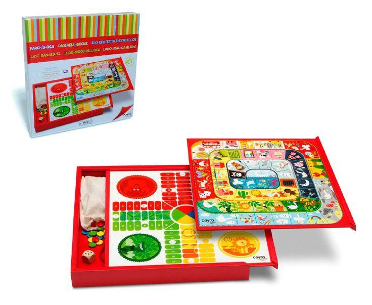 Tablero reversible, en esta cajita de madera encontrarás  un tablero con dos juegos e  ilustraciones infantiles  divertidísimas, Además podrás guardar las fichas fácilmente  en el interior para que no se pierdan.