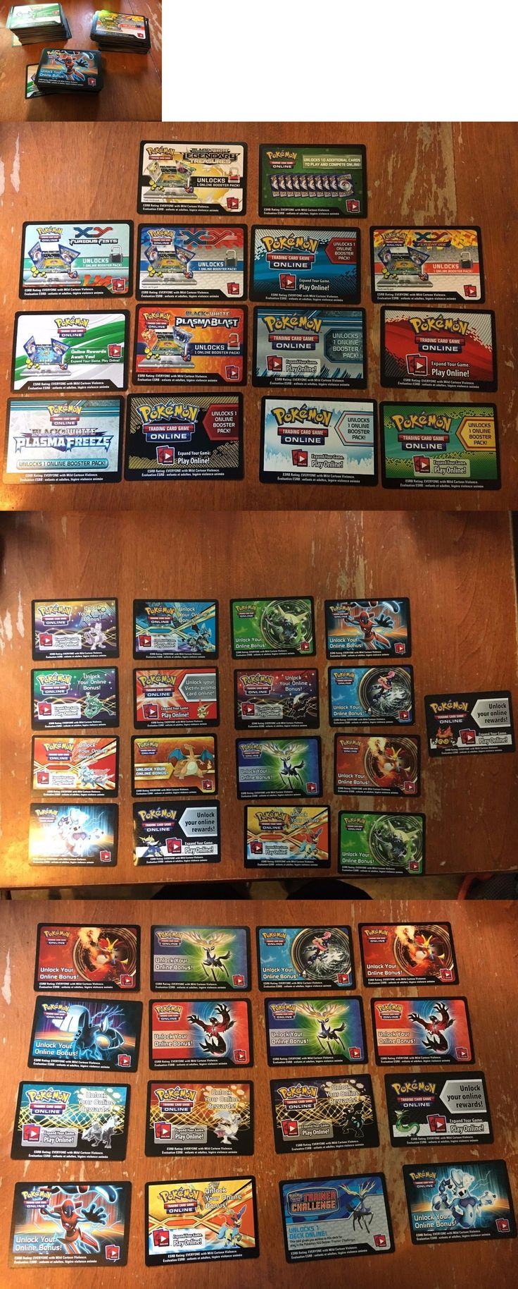 Other Pok mon TCG Items 2608: Huge Pokemon Tcg Online Code Cards Lot -> BUY IT NOW ONLY: $135 on eBay!