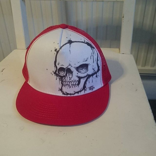 #hatart#sharpie#sharpieart#skullart#skull#krazyfredrik#lowbrowart#keps#art#konst