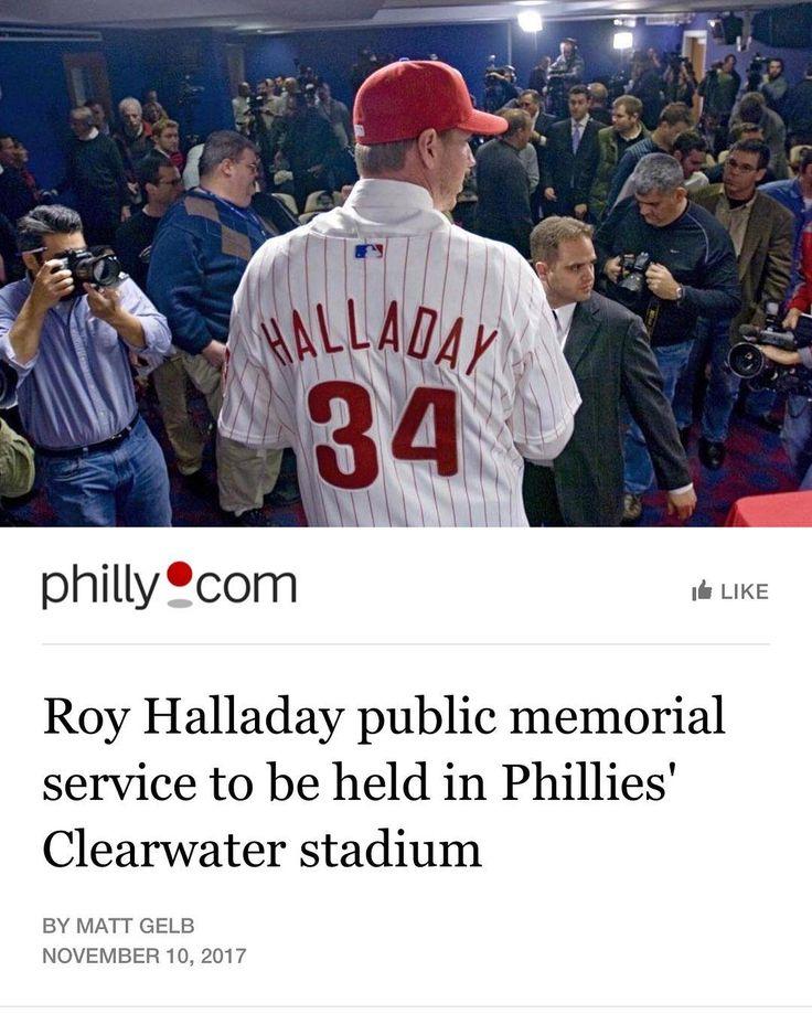 Roy Halladay memorial service to be held in Phillies Clearwater stadium #Phandemonium #Phillies #Baseball #MLB #PhilliesGame #Eagles #FlyEaglesFly #NFL #Football #Philadelphia #PhiladelphiaEagles #BleedGreen #NFCEast #CarsonWentz #Wentz #EaglesNation #AO1 @philadelphiaeagles @phillies
