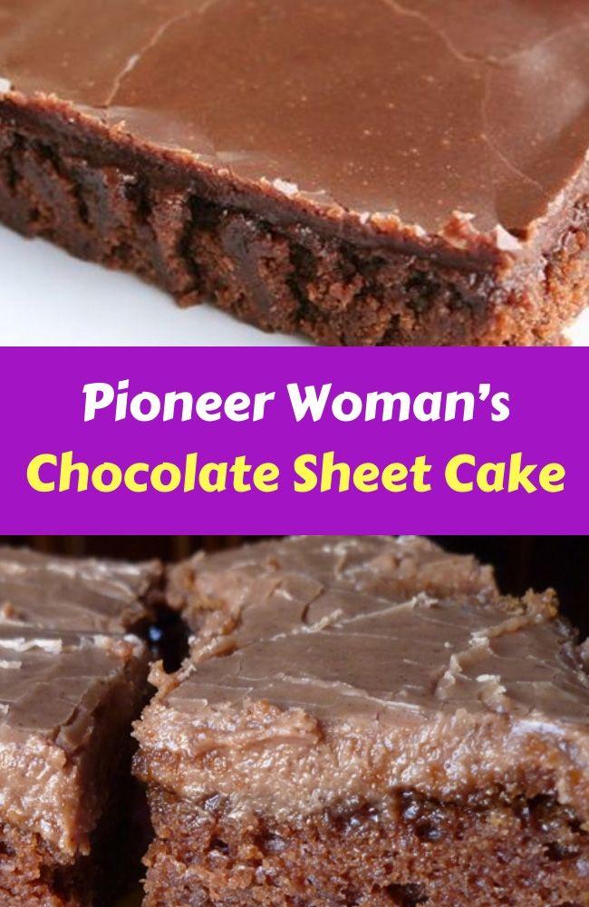 Pioneer Woman´s Chocolate Sheet Cake Glaub mir, das ist ABSOLUT DAS BESTE …