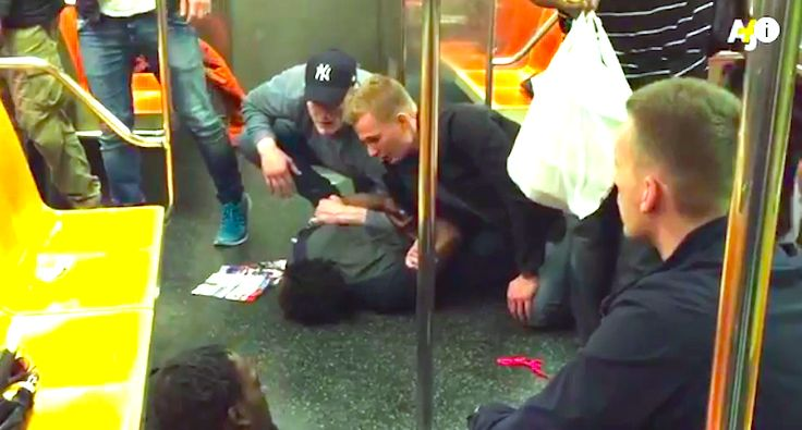 "Swedish police officers subdue suspect  The video shows one of the brawlers sitting calmly on the floor, flanked by two of the Swedish police officers, while two others kneel on the other man – who is more unruly – to hold him face-down on the floor.  ""How do you feel?"" one of the officers asks the seated man, who says he feels fine.  Natch, the Swedes do it right..."