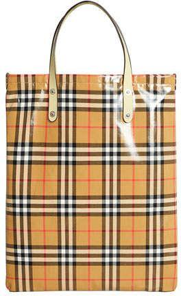 319154067758 Burberry Coated Vintage Check Medium Shopper Tote Bag