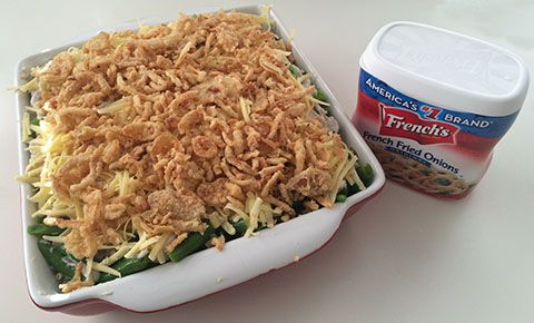 Yes it's for Thanksgiving, but sometimes when you feel like a vege dinner, this is delicious! Green bean casserole recipe