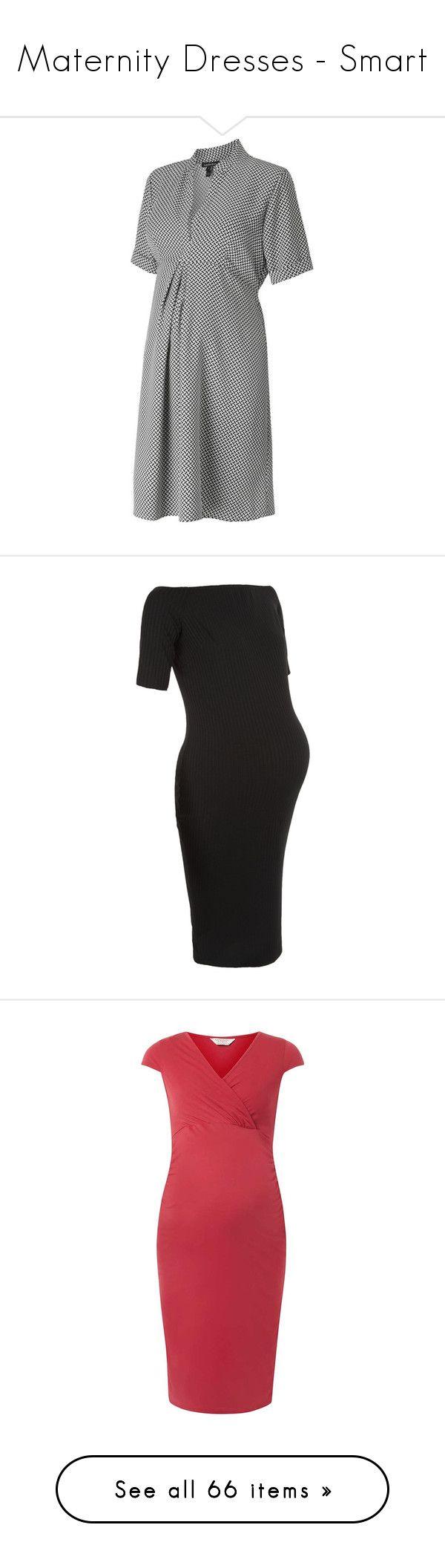 """Maternity Dresses - Smart"" by polkadot-shorts ❤ liked on Polyvore featuring maternity, black, pink, dresses, pregnant, maternity clothes, maternity dresses, maternity dress, powder pink and grávida"