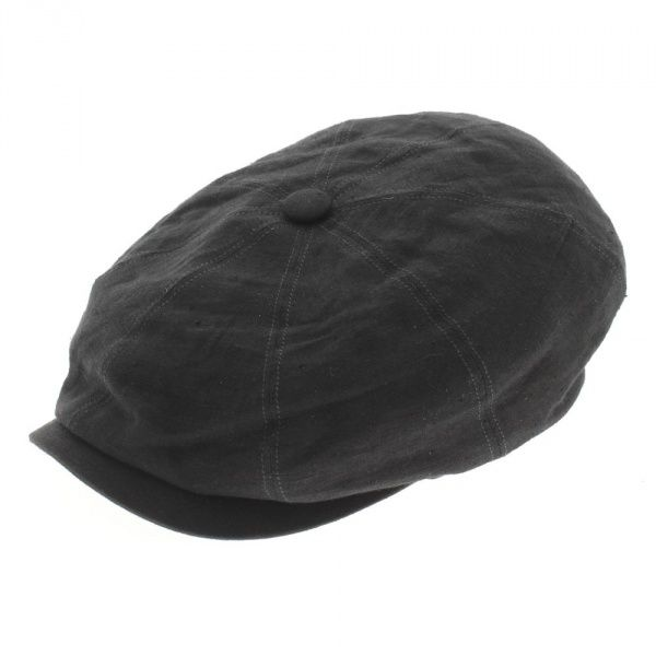 casquette hatteras lin noir Stetson