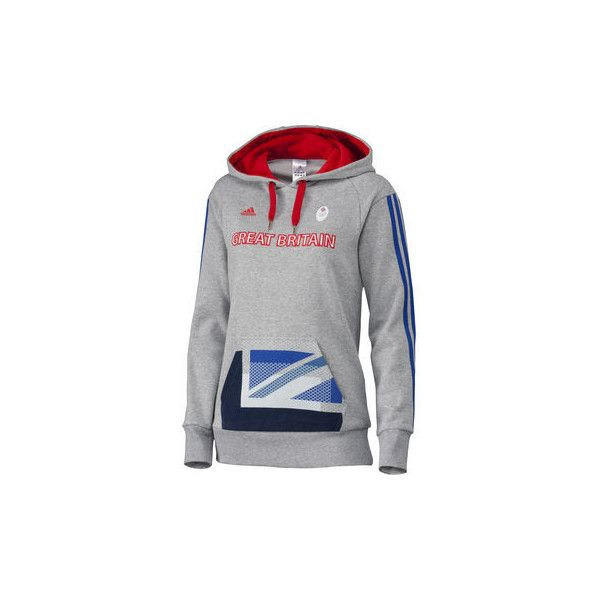 Adidas London Olympics 2012 Ladies Team GB OSP Hoodie (205 BRL) ❤ liked on Polyvore featuring tops, hoodies, fleece hoodie, hoodie top, hooded sweatshirt, hooded fleece pullover and adidas hoodies