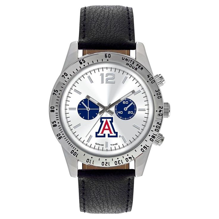 Men's Game Time NCAA Letterman Sports Watch - Black - Arizona Wildcats