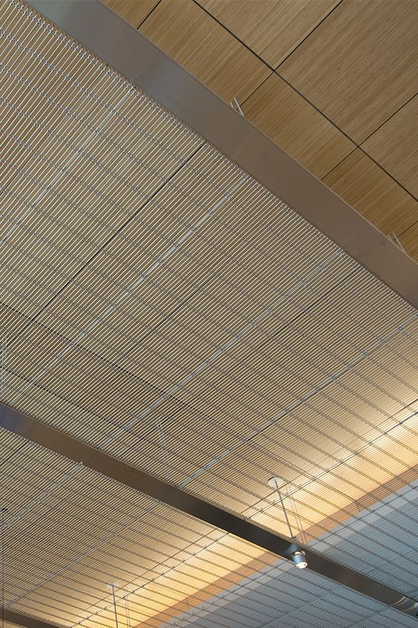 Ceiling cladding made of HAVER Architectural Mesh.