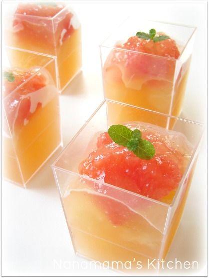 grapefruit jelly / グレープフルーツゼリー