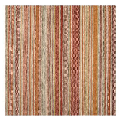 Safavieh Striped Kilim Beige Area Rug & Reviews | Wayfair