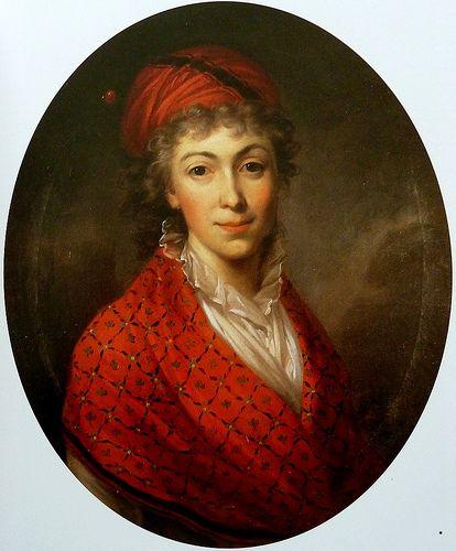 Kazimierz Wojniakowski, Portrait of Izabela Czartoryska, née Fleming, 1796