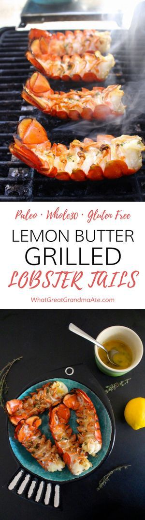 These paleo and gluten free Lemon Butter Grilled Lobster Tails are so easy to make, but tastes and looks like you spent hours in the kitchen!