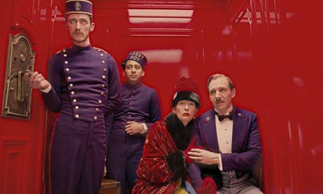 The Grand Budapest Hotel - Wes Anderson's use of color and art direction is absolutely incredible!! Stephan O. Gessler (AD), Anna Pinnock (set direction) and Milena Canonero (costume design) - Genius!!
