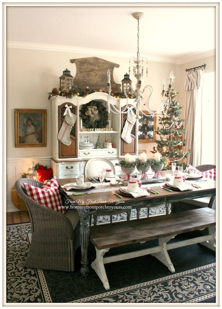 best 25 christmas dining rooms ideas on pinterest