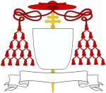 Coat of arms of Cardinal Guillaume de Croy (1497-1521) was a Catholic archbishop and cardinal French . Created cardinal by Pope Leo X on 1 April 1517