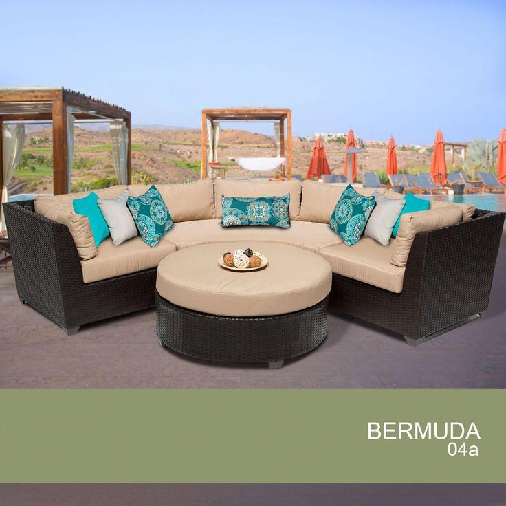 Amazon.com : Bermuda 4 Piece Outdoor Wicker Patio Furniture Set 04a : Patio,