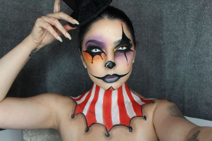 Circus ring master American horror story special effects Halloween makeup