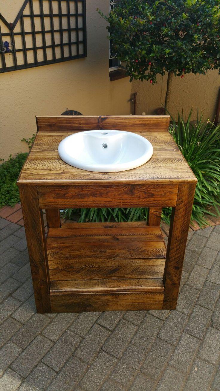 Rustic basin vanity | Rustic bathroom vanities, Custom ...