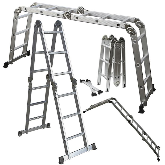 12-Foot Multi-Purpose Aluminum Folding Ladder w/ Multi-Position Hinges & Safety Locks  #yugsterhotdeals