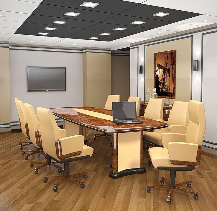 Дизайн-проект для нефтяной компании. Комната переговоров.