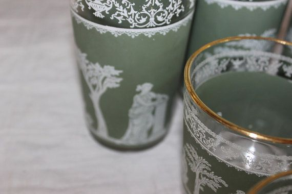 Wedgwood Jeanette Glasses Set of Five 1960s by AmeliesFarmhouse, $15.00