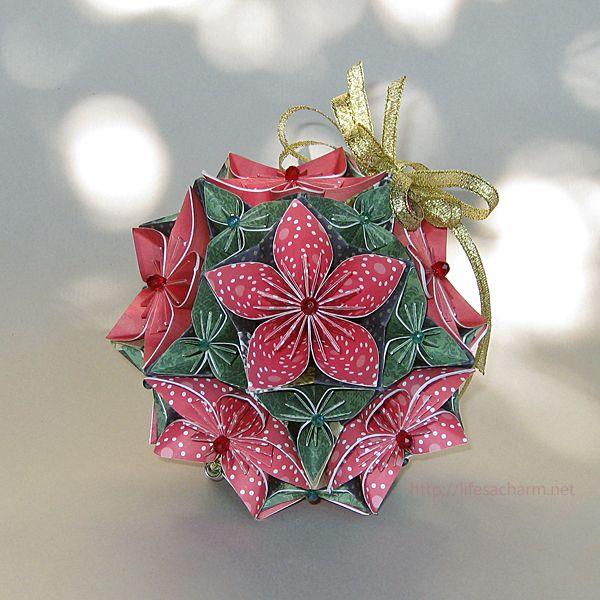 Origami Christmas Bouquet + TUTORIAL
