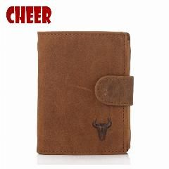 [ 48% OFF ] Crazy Horse Purse Male Genuine Leather Wallets Designers Men's Money Clip Clutch Luxury Purse For Coins Lutch Dollar Price