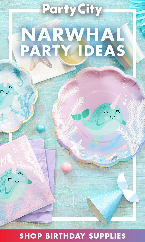 Shop Party City For Narwhal Birthday Supplies