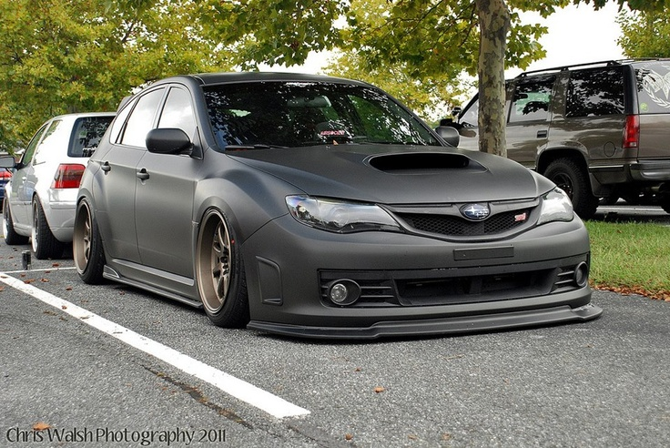 Subaru Impreza Hatchback Flat Black Cars Pinterest