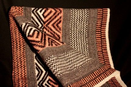 Linda combinación de técnicas de telar mapuche
