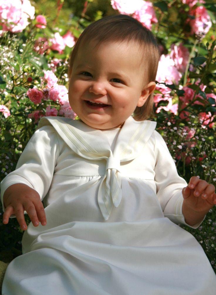 Dopklänning, sjömansklänning, sailordress, christeninggown