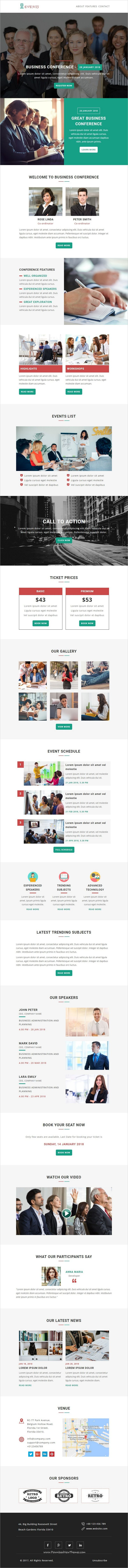 Event is clean and modern design responsive #email #newsletter template for #events #conference viral #marketing with online stampready builder access to live preview & download click on image or Visit  #emailmarketing
