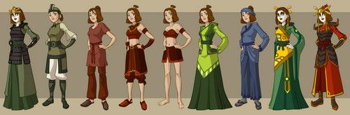 All of Suki's outfits/appearances. (Think the last three are made up, or I just have a really bad memory...)