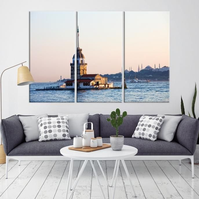 63708 – Large Wall Art Turkey Istanbul Skyline Canvas Print
