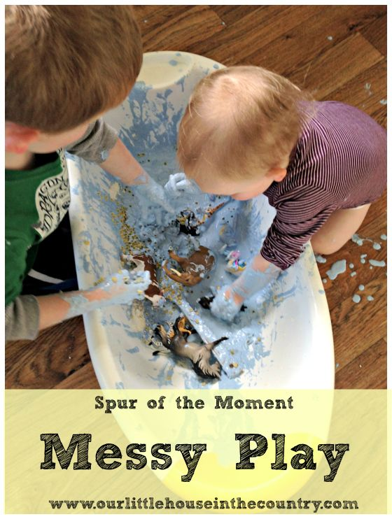 Messy Play Madness – A Spur of the Moment Messy Play/Sensory Activitiy | Our little house in the country