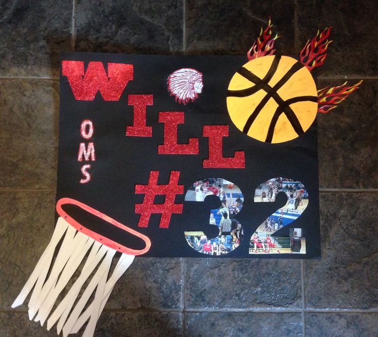 8th Grade Night Basketball Poster
