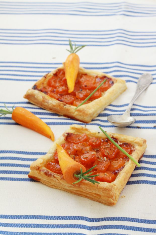 Carrots tarts / Tartes aux carottes confites