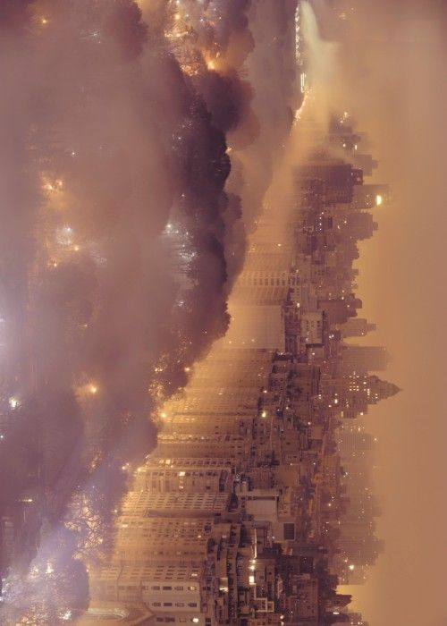 Light Pollution and Fog Combine to Blur a New York City Skyline / by Jim Richardson