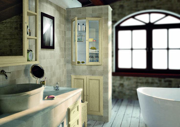 Piastrellabile con finitura essenza frassino laccato decapè Crema http://www.cerasa.it/it_IT/bagni/classico/piastrellati/mobili-bagno_design-piastrellabile-anta-york-26-27