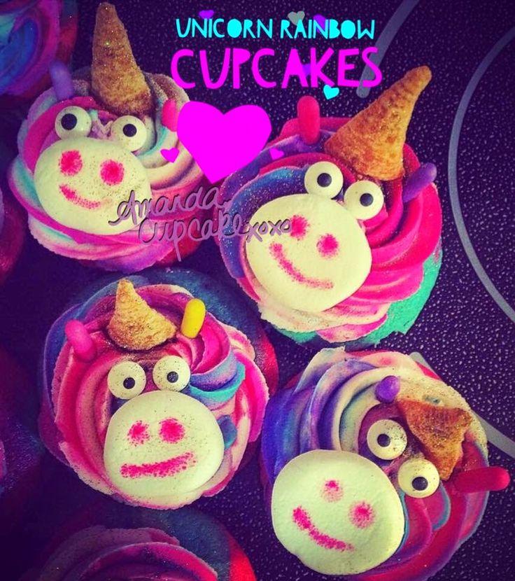 .Amanda Cupcake. Sweet Dreamer ♥: Fantasy Vanilla Almond Rainbow Cupcakes ♥